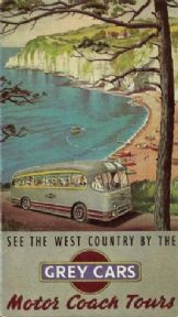 Vintage English poster - Grey Cars Coach tours
